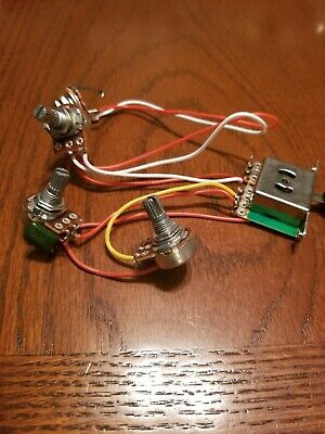 Fender® Strat Style Wiring Guitar Harness 5-Way Switch 3-250k Pots 2 Caps USA
