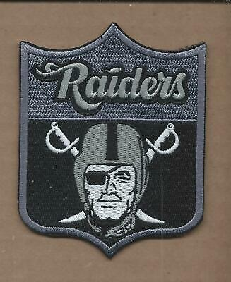 New 3 1/8 X 4 Inch Oakland Raiders Shield Iron On Patch Free Shipping E4