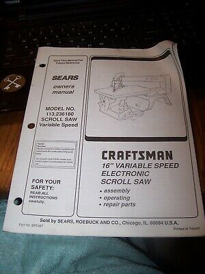sears jigsaw manual