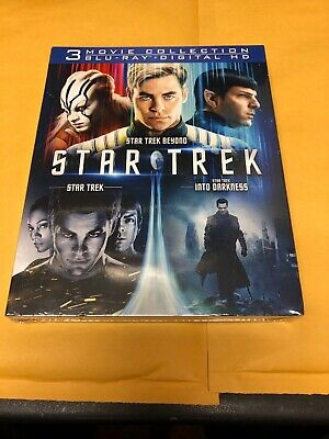 Star Trek Trilogy Collection 3 Movie Collection w/Slipcover (Blu-ray, Digital)