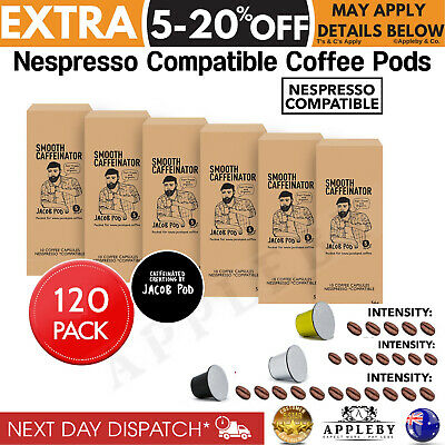 Nespresso Compatible Coffee Pods Capsules Jacob Pod Varieties 120 Pack Organic