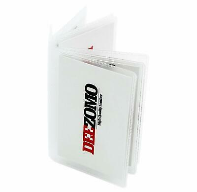 Set Of 2 Wallet Inserts Replacement 6 Page Card Holder For Bifold Or Trifolds Wa