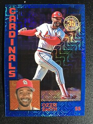 2019 Topps Series 1 1984 Silver Pack Chrome Blue #T84-48 Ozzie Smith 003/150