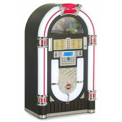 New Full Size Cd / Vinyl Jukebox Luxury Bluetooth, Usb, Sd, Free Shipping