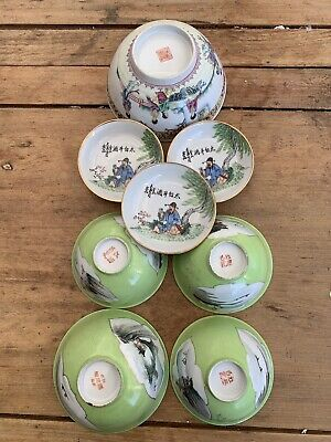 antique chinese porcelain bowls Qing China Asian