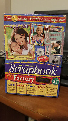 Brand New Sealed In Box Art Explosion Scrapbook Factory Deluxe Version 4.0