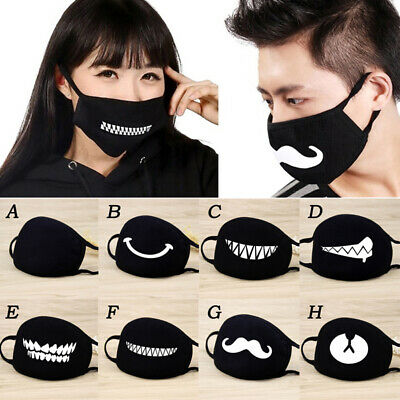 Unisex Adult Anti-Dust Cotton Mouth Face Mask Half Masks Black Cycling Outdoor