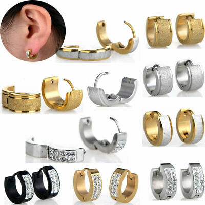 Huggie Earring Ear Stud Hoop Surgical Steel Men Women Body Jewellery