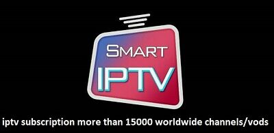 iptv subscription more than 13000 worldwide channels/vods just for 23$ /1 year