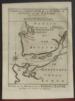 Congo River Congo West Africa 1763 Bellin/schley Antique Copper Engraved Map