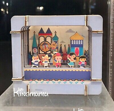 Disney Parks It's a Small World Paper 3D DIY Diorama miniature scene Blue Set