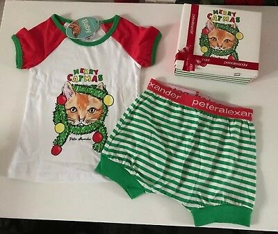 Peter Alexander Baby Christmas Cat PJ Set Size 18-24 Months RRP$39.95