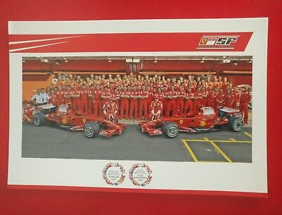 Team Ferrari OFFICIAL FERRARI CARD 2007