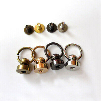 Ball Post With O-ring Rivet Stud Nail Round Head Screw Back For Leather Craft