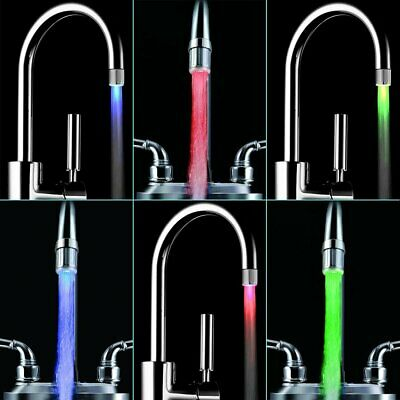 7 Color Change LED Light Water Tap Faucet Head Shower for Kitchen Bathroom New