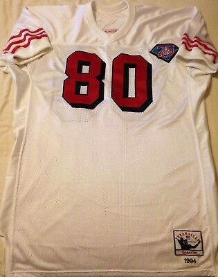 7ec761738 MITCHELL AND NESS 1994 49ers Jerry Rice Home Jersey Size 48 100 ...