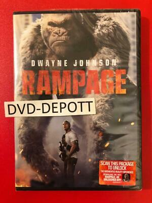 Rampage (DVD, 2018) - Dwayne-The Rock-Johnson AUTHENTIC DVD READ New Free Ship
