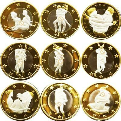 Gold Sexy Girl Woman Coin Commemorative Challenge Coin Art Gift Collection Coin