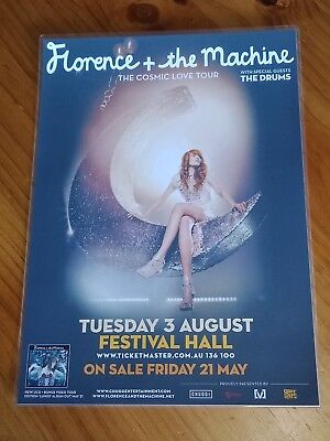FLORENCE and the MACHINE - 2010 COSMIC LOVE Australia Tour Poster - Laminated