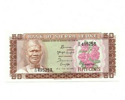 Bank Of  Sierra Leone  50 Cents  1984  Unc