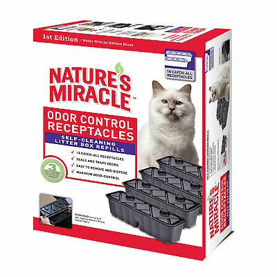 Nature's Miracle Self Cleaning Litter Box Waste Receptacle, Pack of 18