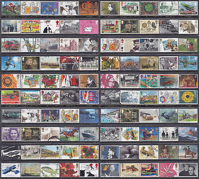 Collection Of 100 GB British Commemorative With High Values Used Stamps (LOT59h)