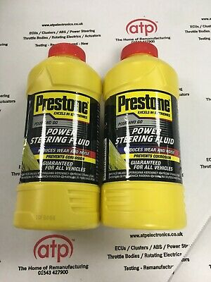 Prestone Universal Power Steering Fluid 355ml X2 Reduces Wear for ALL Vehicles