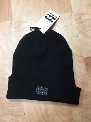 40e58f1677 BILLABONG DISASTER BODE Logo Beanie in Black winter hat -  22.99 ...