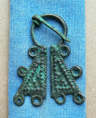Authentic Medieval Viking Bronze Penannular Omega Brooch