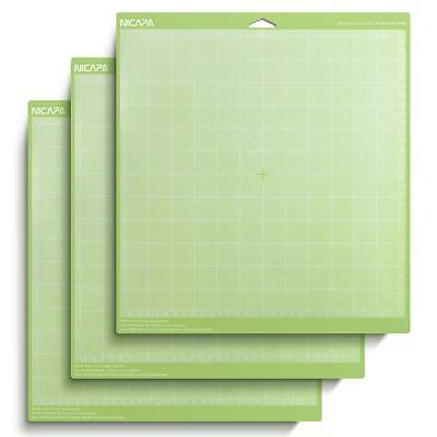 """Nicapa Cricut Tools Accessories Variety 3 pack Adhesive Cutting Mat 12"""" x 12"""""""