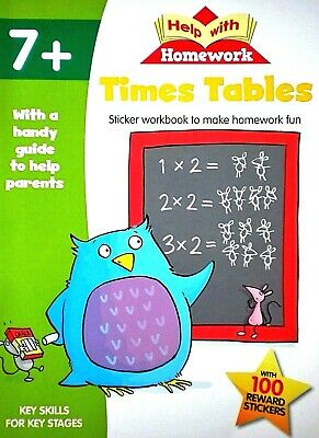Times Tables, Help With Homework, Age 7+, Stickers, Workbook, Parents Guide, New