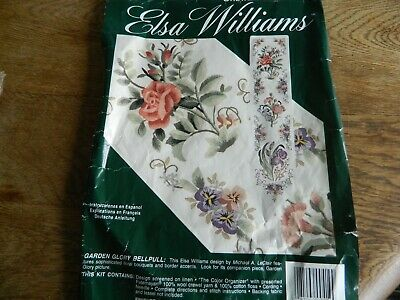 CREWEL WOOL EMBROIDERY KIT: FLORENTINE BELLPULL. By ELSA WILLIAMS. USA. Complete