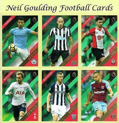 Topps PREMIER GOLD 2017-2018 ☆ GREEN PARALLEL ☆ Football Cards #76 to #150