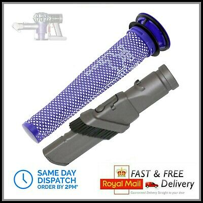Combination Brush Crevice Tool & Filter for DYSON DC58 DC59 DC61 DC62 V6