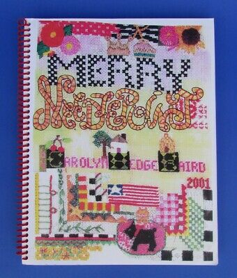 "MERRY NEEDLEPOINT Book Carolyn Hedge Baird Booklet ""A Fun Needlepoint Scrapbook"""