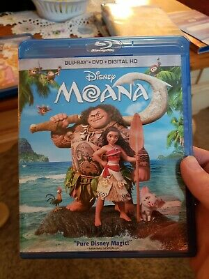 Moana (Blu-ray/DVD, 2017, 2-Disc Set, Includes no digital Copy) just opened