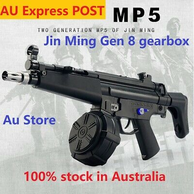 AU JinMing MP5 V2 G8 Gel Ball Toy Blaster Drum-Mag Water Crystal Bullet Adult