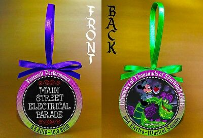 """Disney World's Main Street Electrical Parade-3"""" Double-Sided Ornament-FREE SHIP"""