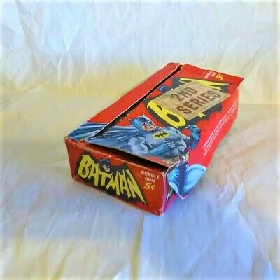 1966 Topps BATMAN SERIES 2 (Red Bat)   ORIGINAL BOX   SUPER RARE   NO RESERVE !!
