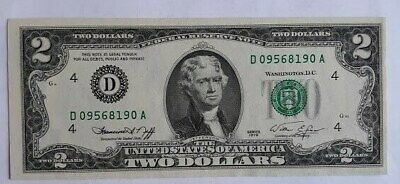1976  $2 TWO DOLLAR BILL ( Cleveland Ohio ) , Uncirculated