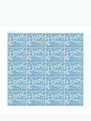 USPS Forever Stamps Sheet/20 LOVE Skywriting Stamps First Class Postage 2for$20