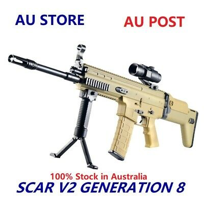 AU Store Gel Ball Toy Blaster Jinming Gen8 SCAR V2 Mag-Fed Automatic Adult Size
