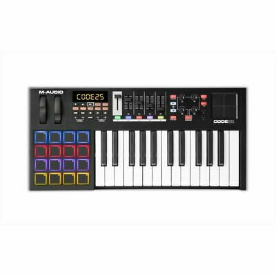 M Audio Code 25 MIDI Keyboard With Ableton Live Lite Software (black)