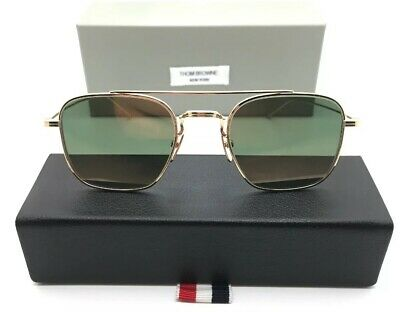 32f555e1352c AUTHENTIC THOM BROWNE 103 A-GLD 12K Gold Sunglasses 12k Gold Plated ...