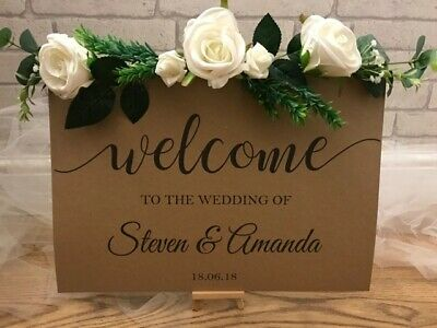 A3 Welcome to the wedding Sign Venue Decoration post banner