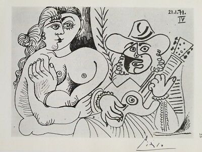 Pablo Picasso Hand Signed After Drawing in Arles France | COA Attached