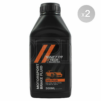 Millers Oils Ginetta Tech 300 Plus Motorsport Brake Fluid - 2 x 500ml 1L