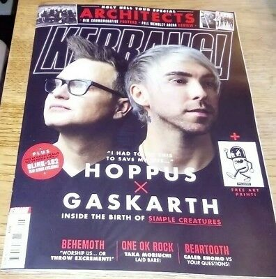 Kerrang! Magazine Issue 1758 2nd February 2019 Simple Creatures Art Print Hoppus