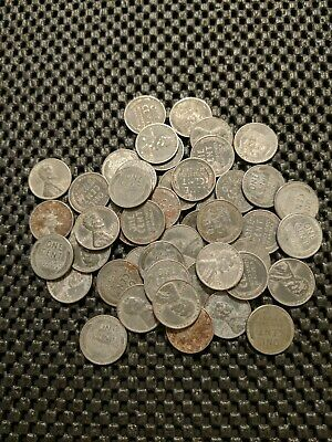 1943-P Steel Penny Roll! 50 Coins!