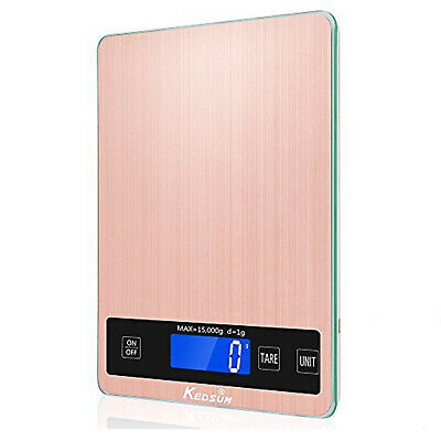15kg Stainless Steel Digital LCD Electronic Kitchen Cooking Food Weighing Scales
